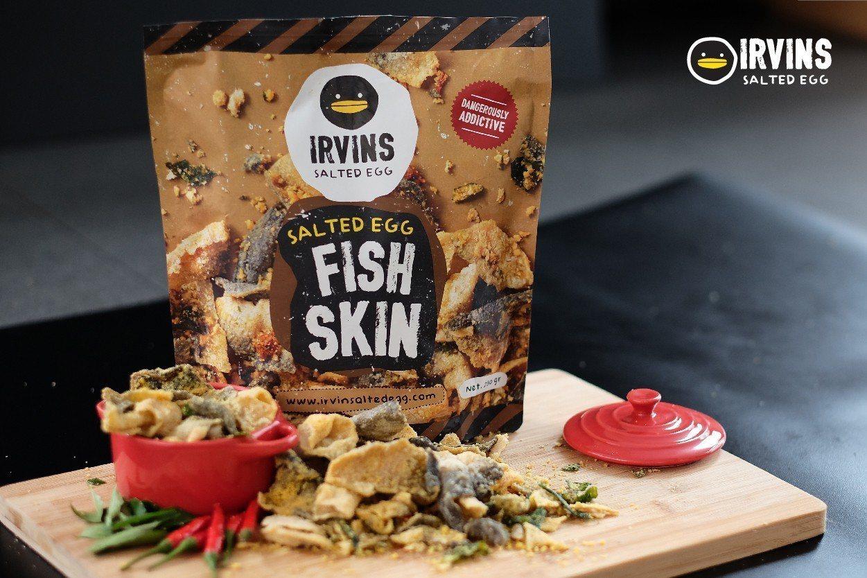 IRVINS鹹蛋黃魚皮售價190元(小) 、380元(大)。圖/SOGO提供