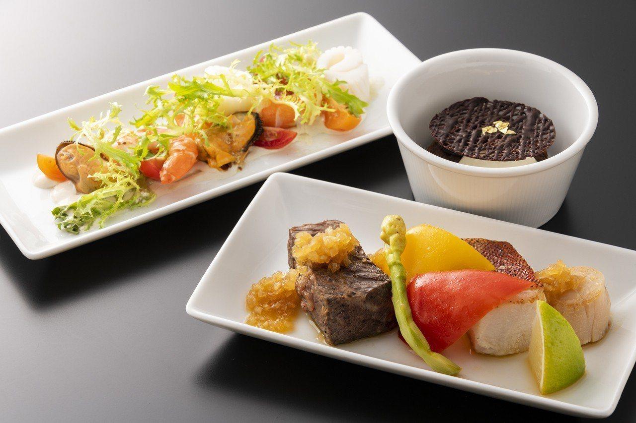 七月份「Robins 鐵板燒」機上套餐。圖/台北晶華酒店提供