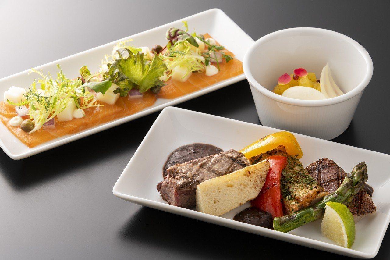 一月份「Robins 牛排館」機上套餐。圖/台北晶華酒店提供