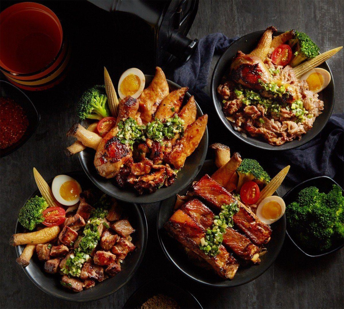 CooK BEEF!酷必於新光三越A11館新推出4款丼飯,售價189~259元。...
