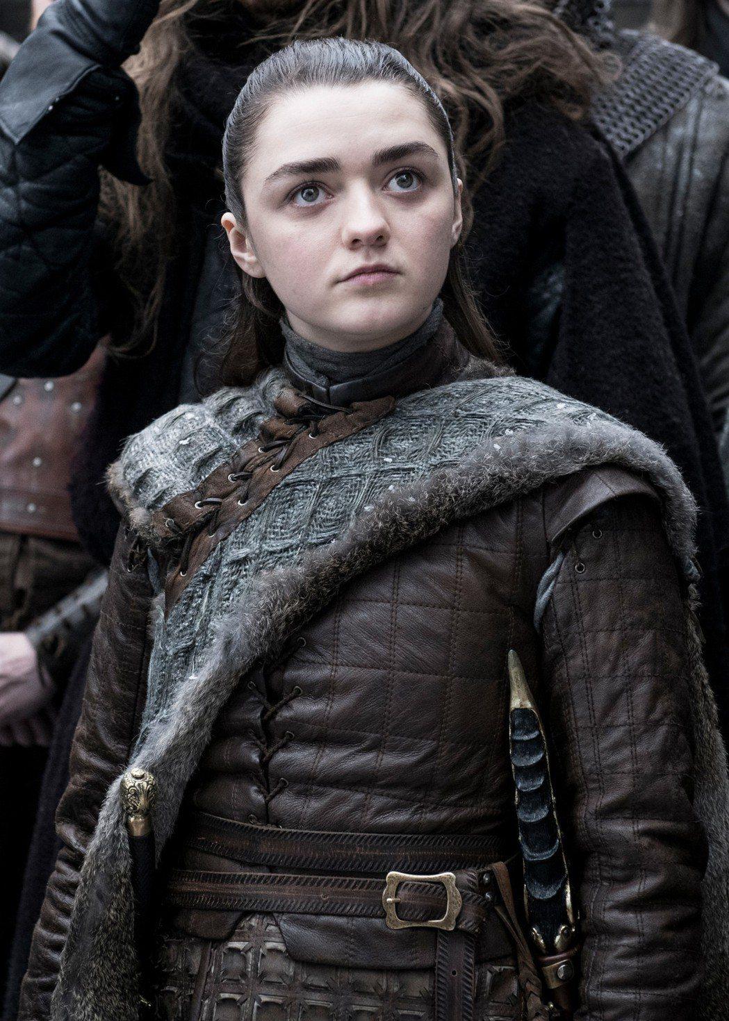 艾莉亞史塔克在「冰與火之歌:權力遊戲」最終季又將面臨凶險。圖/HBO提供