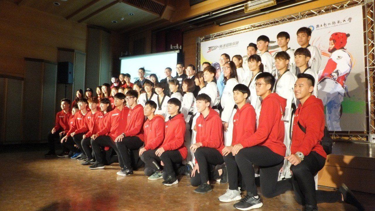 彰化師範大學跆拳道隊成軍超過10年,陣中擁有不少好手。記者藍宗標/攝影