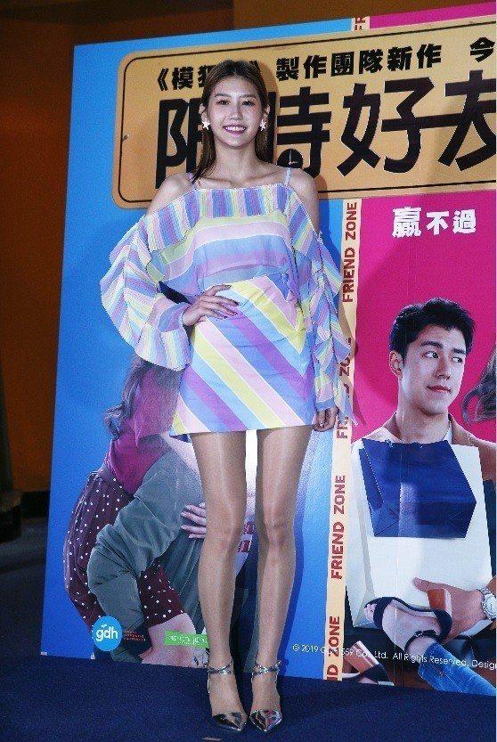 四葉草客串「限時好友」,出席宣傳活動。記者蘇健忠/攝影