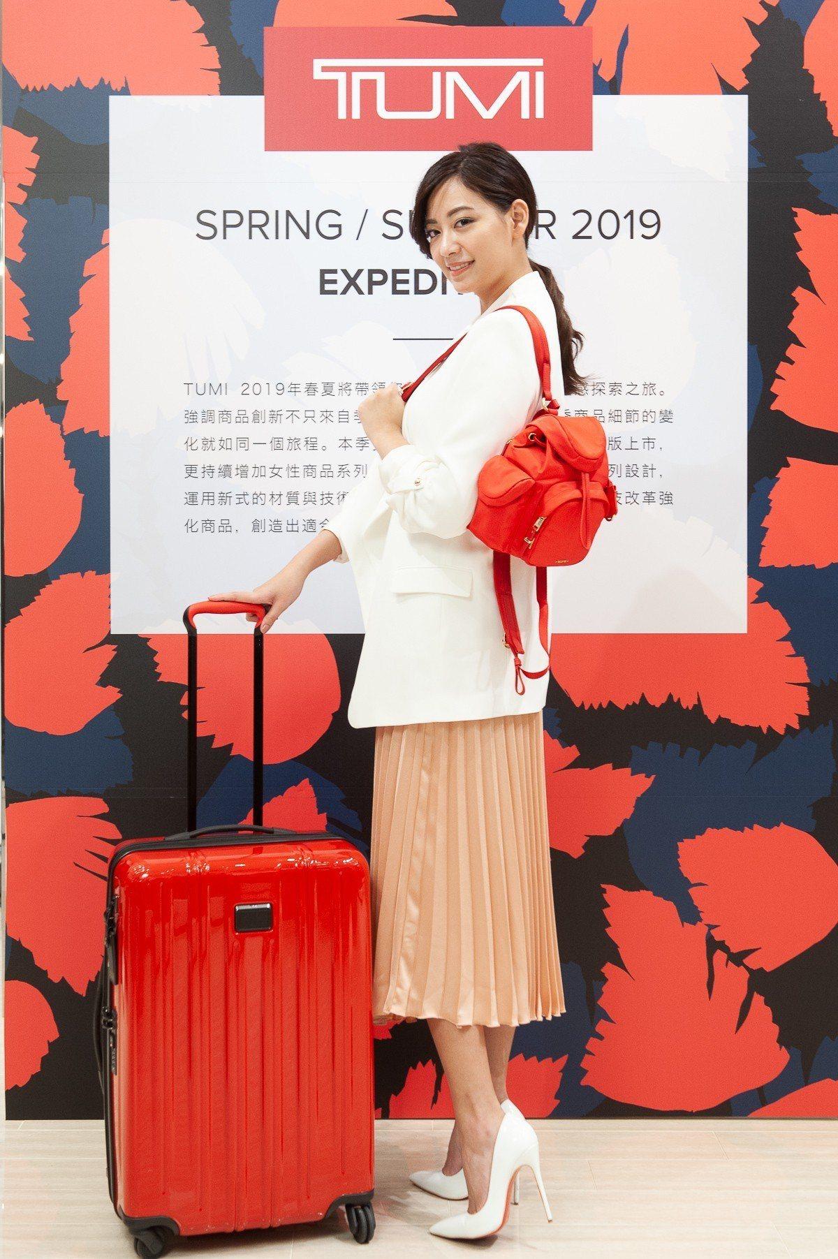 TUMI推出全新春夏系列袋包,也聽到女性消費者的心,打造了迷你款的後背包。圖/T...