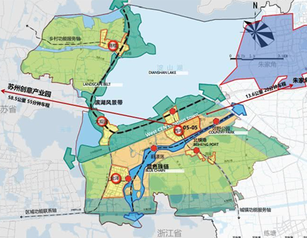 華為上海青浦研發基地圖示。圖/觀察者網