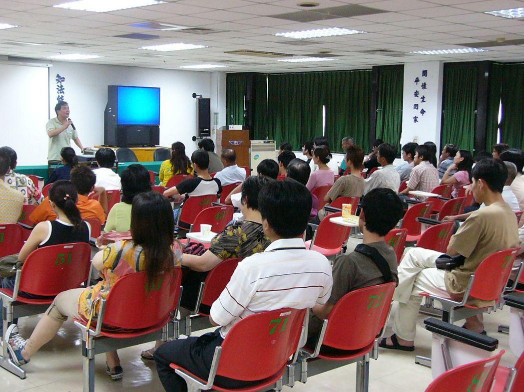 監理站安排的道安講習課程。 聯合報系資料照片/記者游振昇攝影