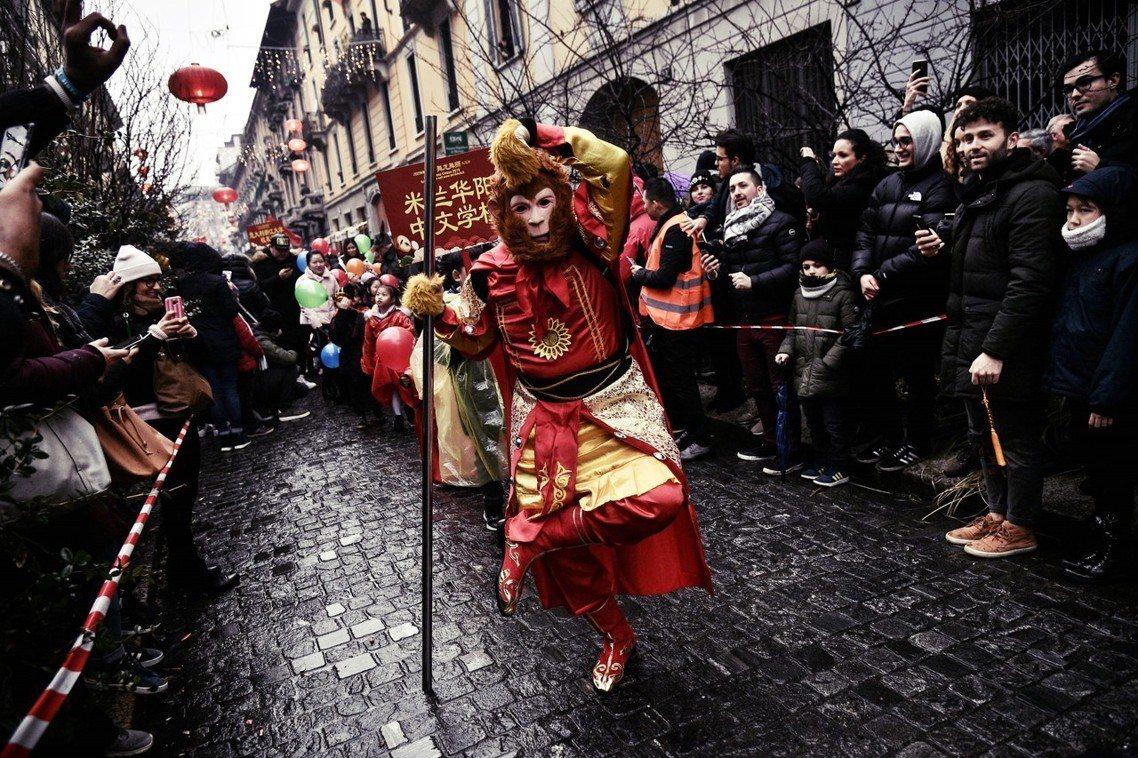 義大利即將成為G7國中,首位加入「一帶一路」的國家。圖為義大利歡慶中國新年。 圖...