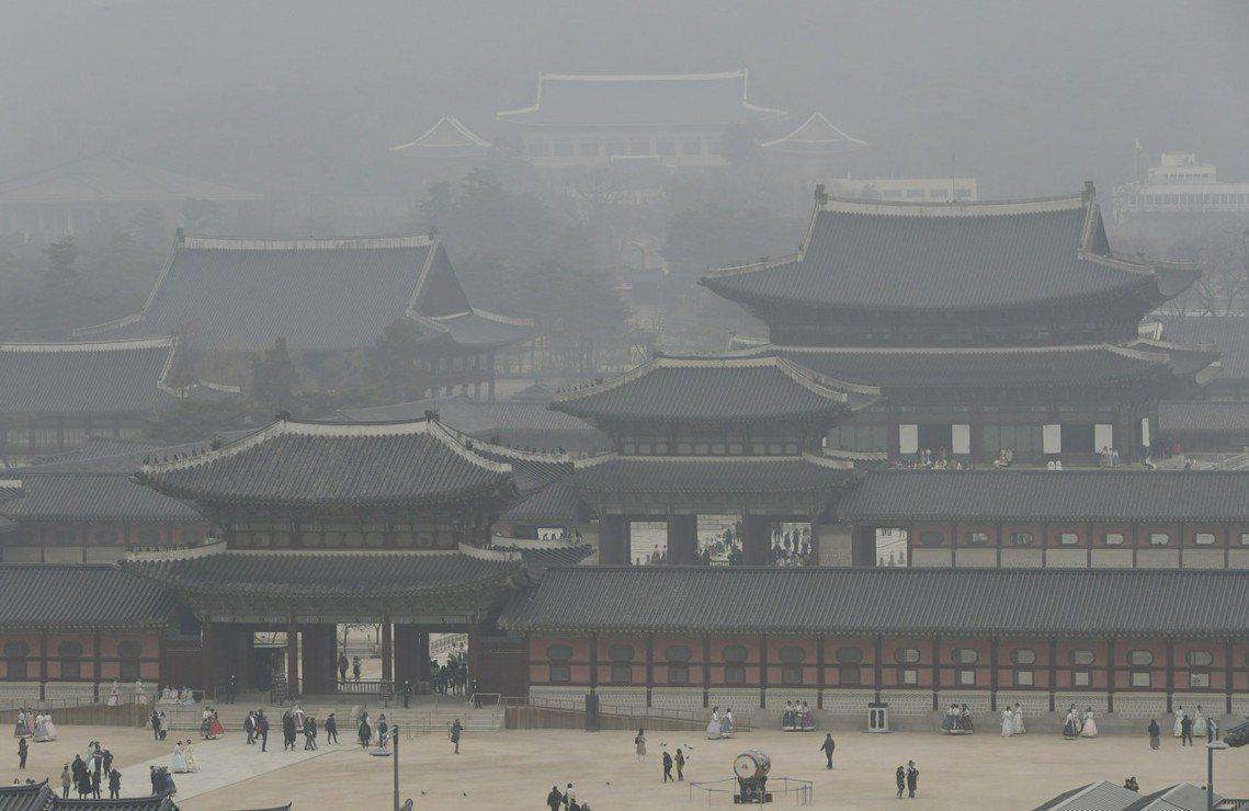 圖為3月6日,首爾的景福宮。 圖/美聯社
