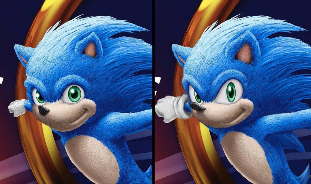 (左起)真人電影造型與玩家修改造型