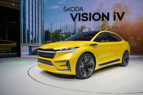 2019日內瓦車展/ŠKODA Vision iV續航力達500公里  首部純電休旅將現身!
