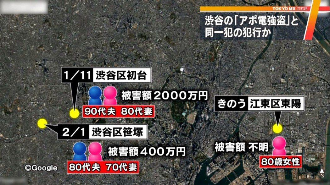 進一步追查,在1月時,澀谷區也發生兩件老夫婦在家遭到綑綁,而且分別被搶奪2,00...