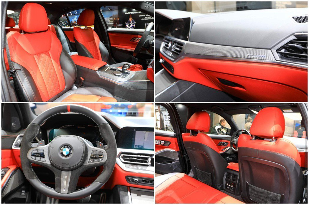 以紅色為大量元素來妝點的BMW M340i xDrive。 摘自Carscoop...