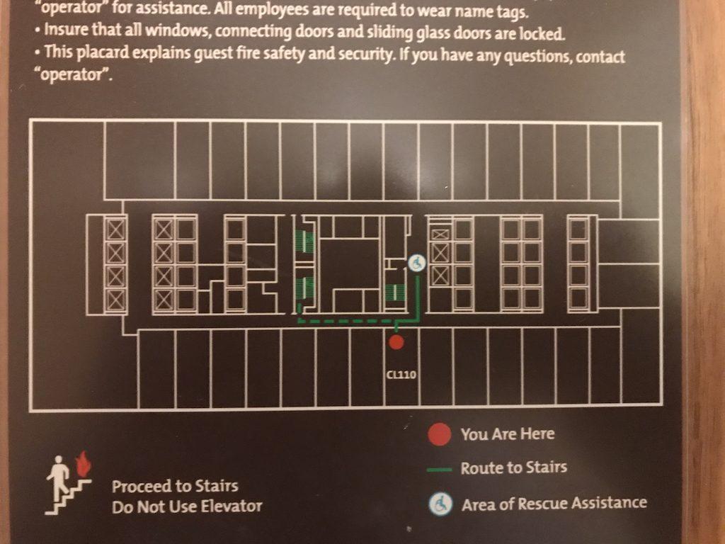這次入住的房間平面圖,可以看到最左邊最大的部分,就是整個行政酒廊,而這個樓層大部...