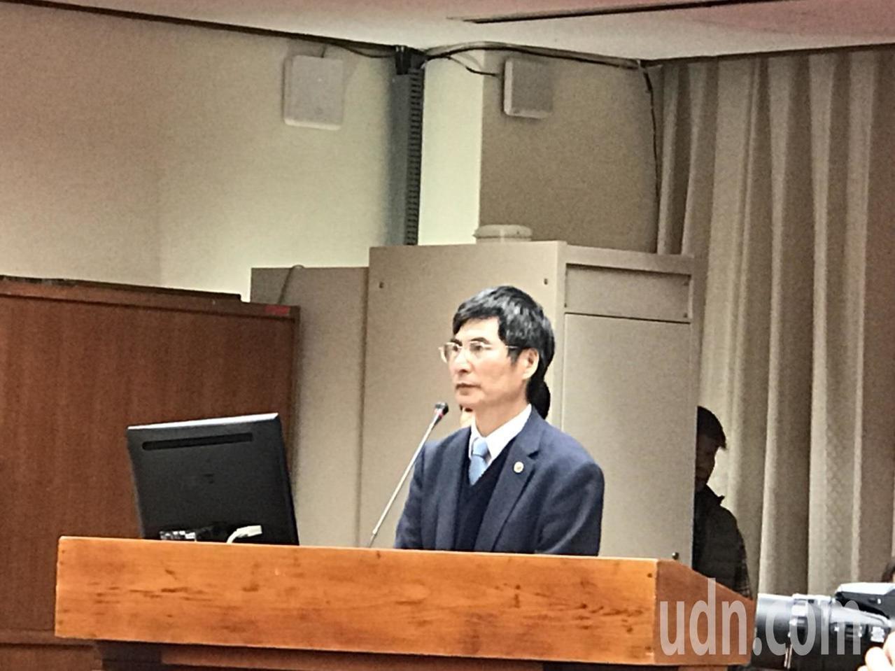科技部長陳良基在立法院備詢。記者馮靖惠/攝影