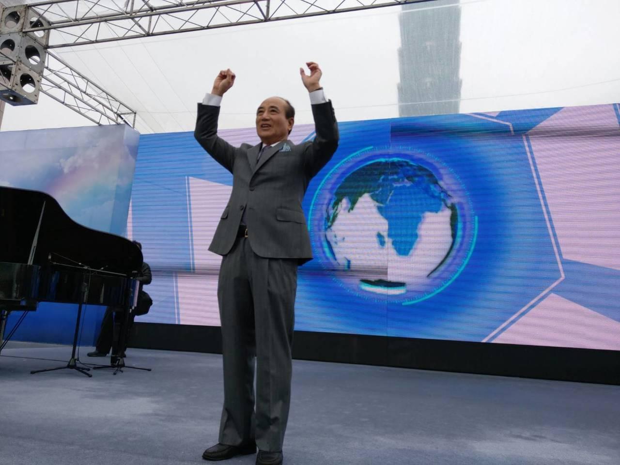 國民黨立委王金平今宣布參選總統。記者劉宛琳/攝影
