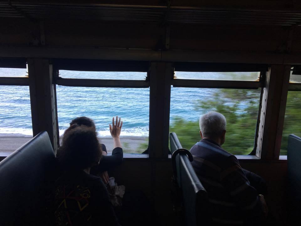 從火車內看出去的景色相當美。圖/讀者提供