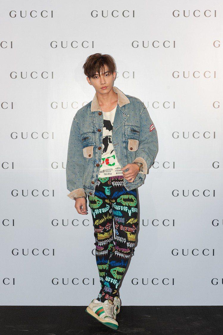 炎亞綸出席Gucci高雄漢神店開幕活動。圖/Gucci提供