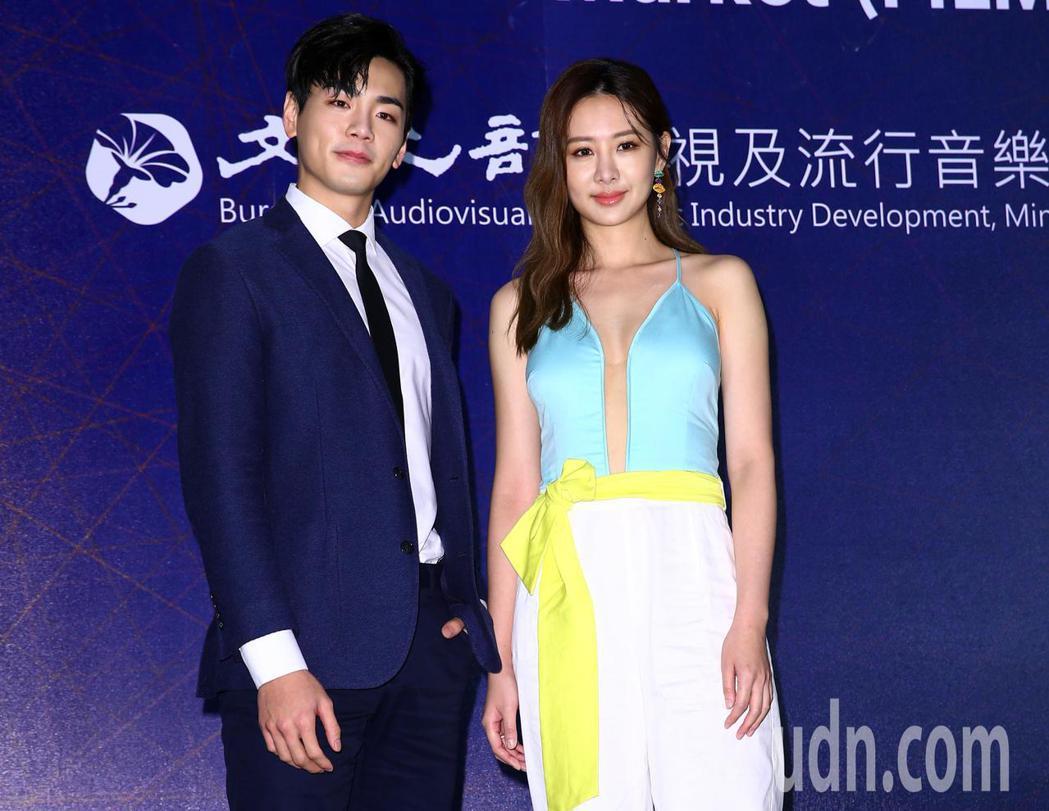 三立電視《你有唸大學嗎?》劇中男女主角安心亞(右)和禾浩辰(左)。記者杜建重/攝...
