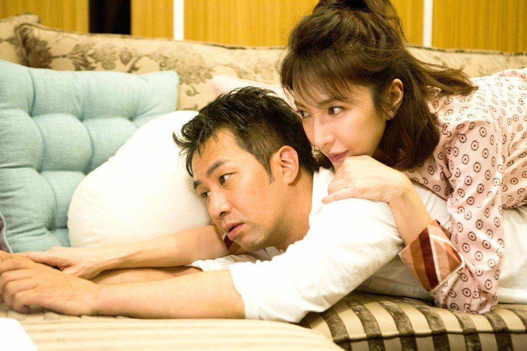 黃健瑋(下)與楊謹華演情侶。圖/八大提供