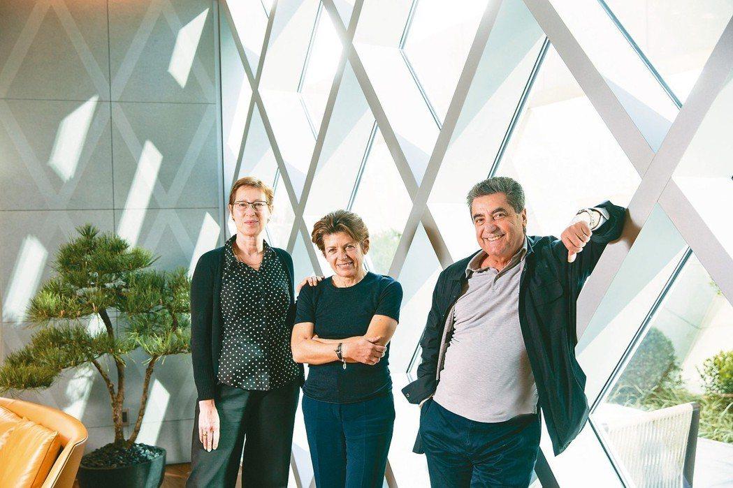 台中「宝格」建案,設計師Antonio Citterio(右起)、合夥人Patr...
