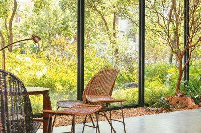若山窗景滿眼綠意。 圖/陳立凱攝影、半畝塘提供