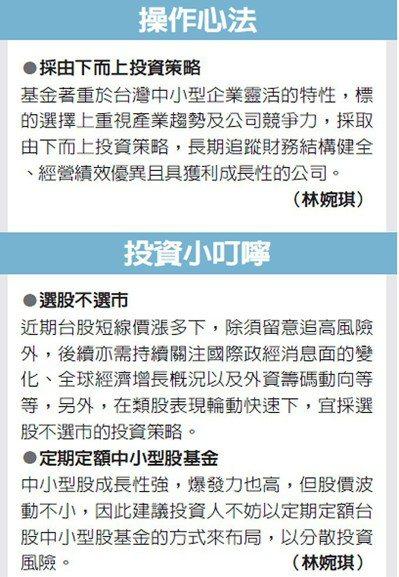 操作心法、投資小叮嚀 圖/經濟日報提供