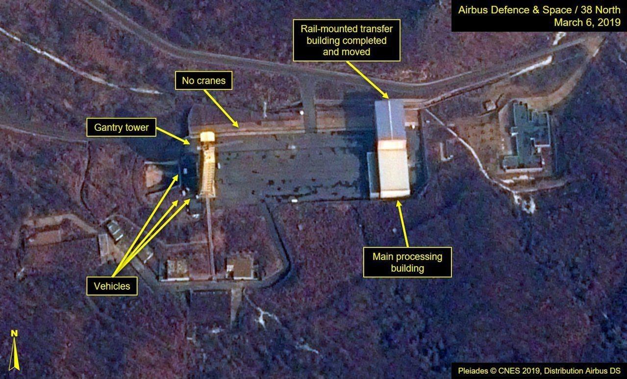 美國情報顯示北韓的西海衛星發射場恢復作業,7日最新衛星照片顯示,火箭發射台與發動...