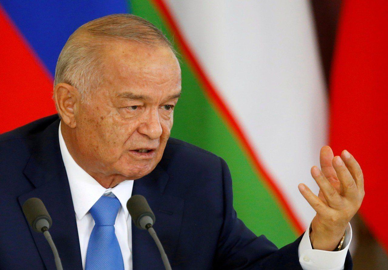 烏茲別克已故總統卡立莫夫。 路透社
