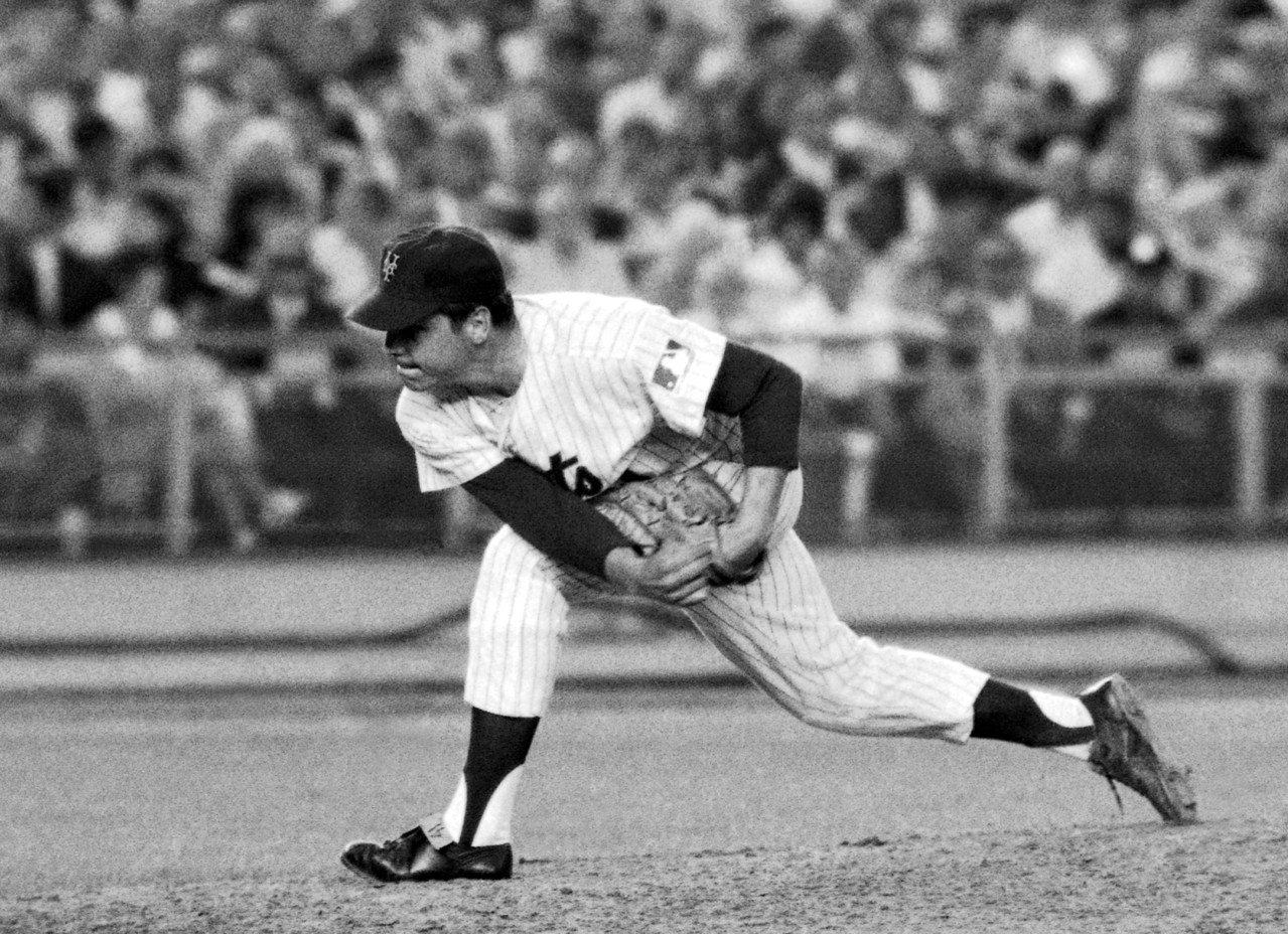 前職棒球星西佛(Tom Seaver)年輕時的身影。 美聯社