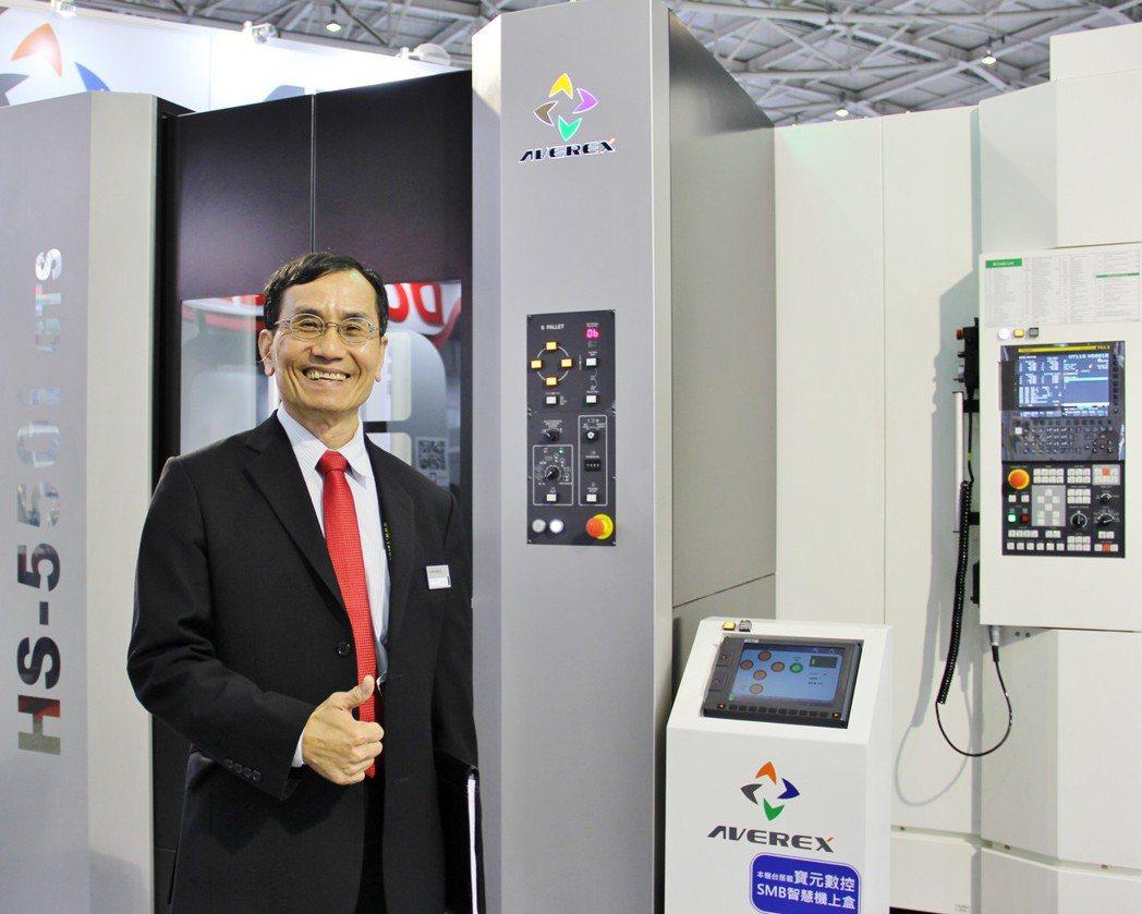 永弘源公司總經理蔡武吉,致力發展智慧機械。 戴辰/攝影