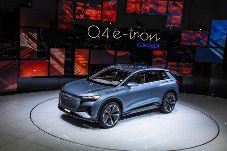 2019日內瓦車展/四環品牌再推純電休旅 Audi Q4 e-tron Concept預約2020年問世
