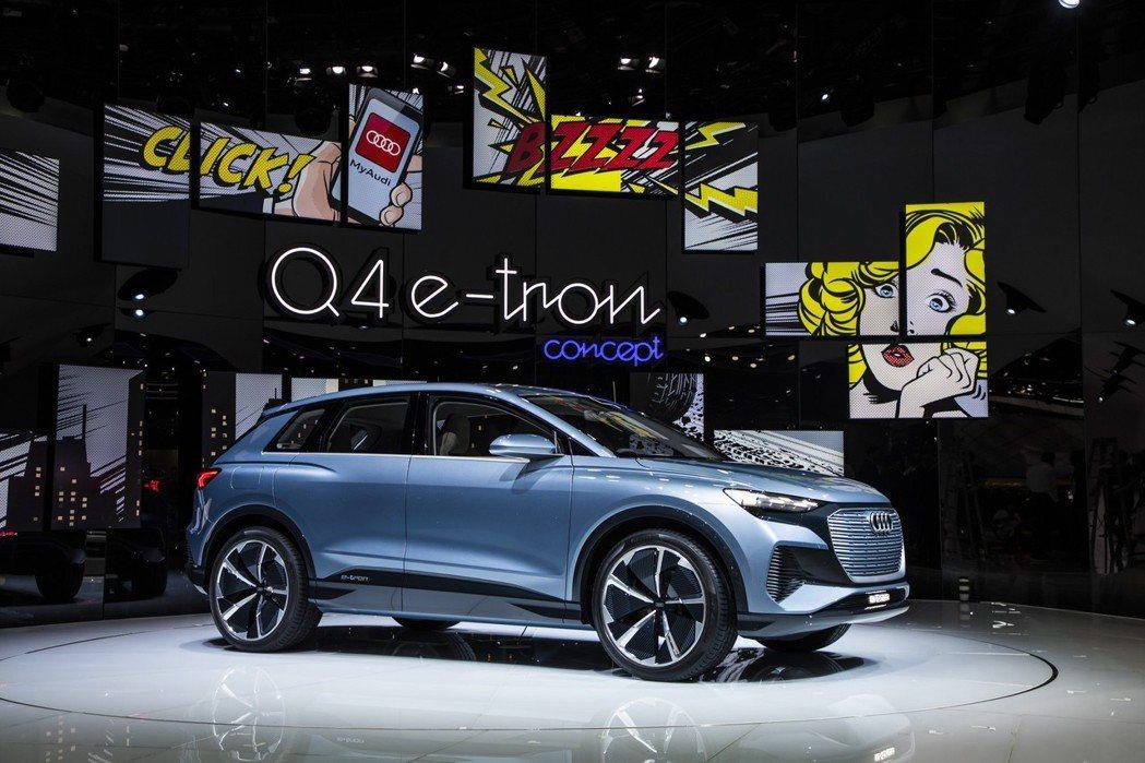 Audi Q4 e-tron Concept綜效馬力可達302hp。 摘自Aud...