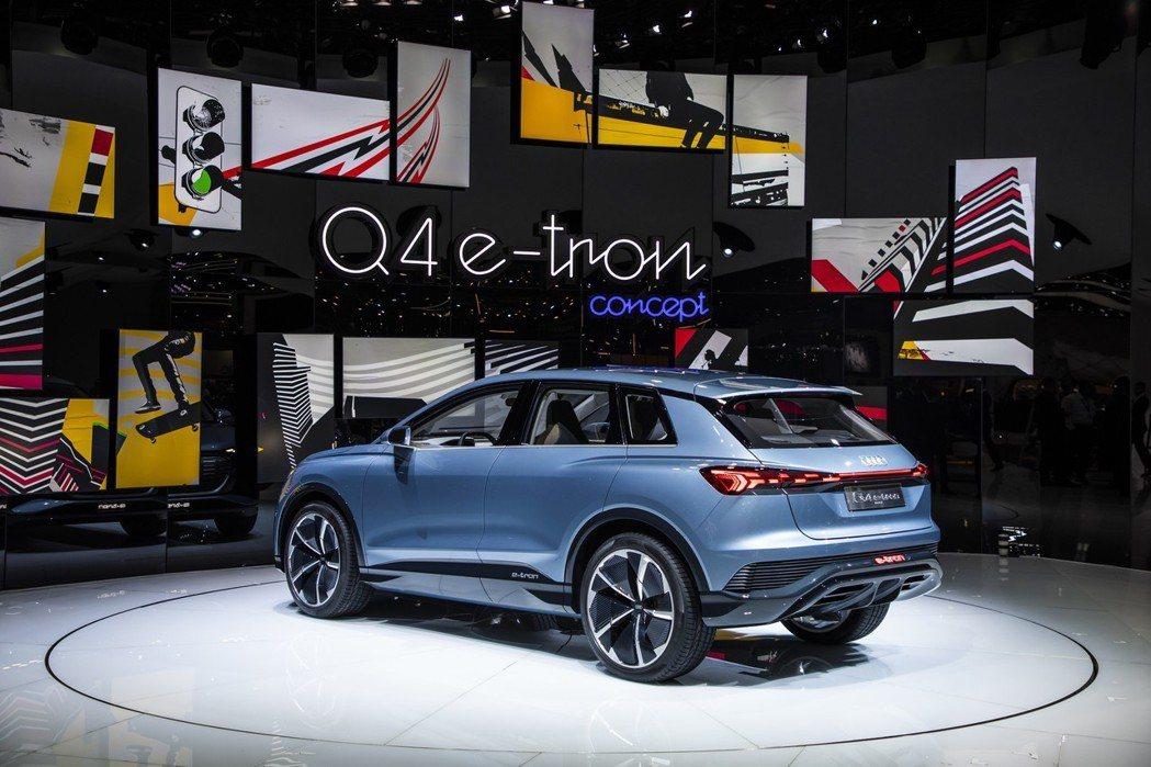 Audi Q4 e-tron Concept擁有最大續航距離450km的表現。 ...