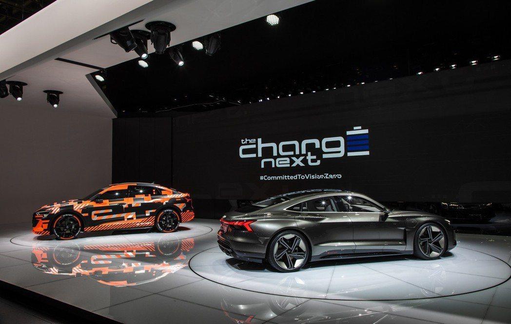 Audi e-tron Sportback與Audi e-tron GT。 摘自...
