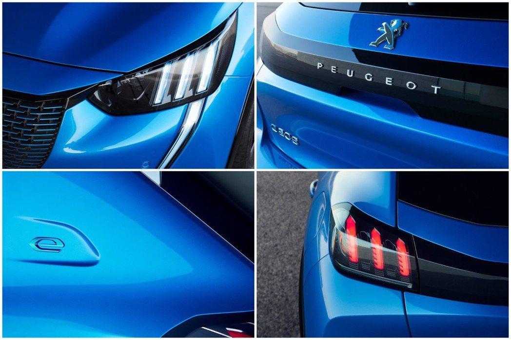 全新Peugeot e-208外觀特色。 摘自Peugeot