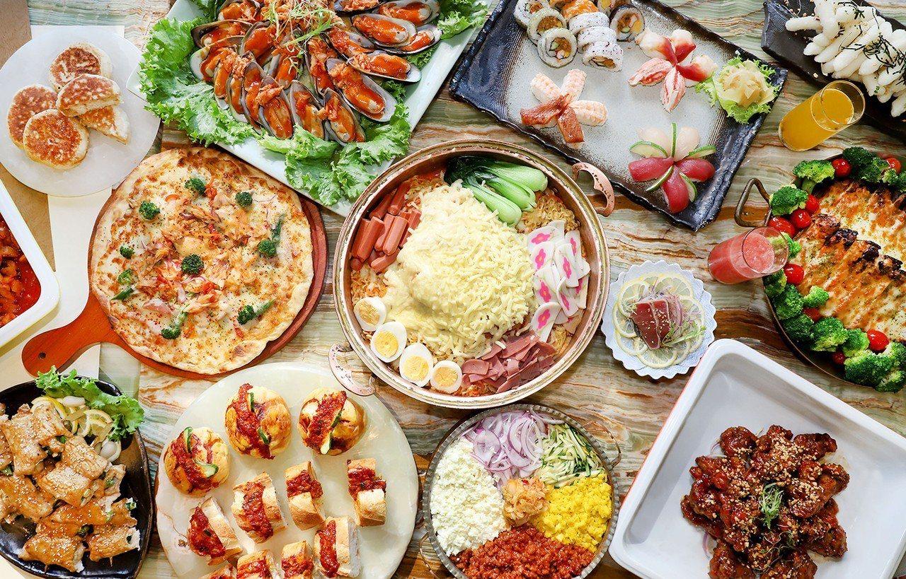 台中林酒店「森林百匯」推出日韓料理。圖/台中林酒店提供
