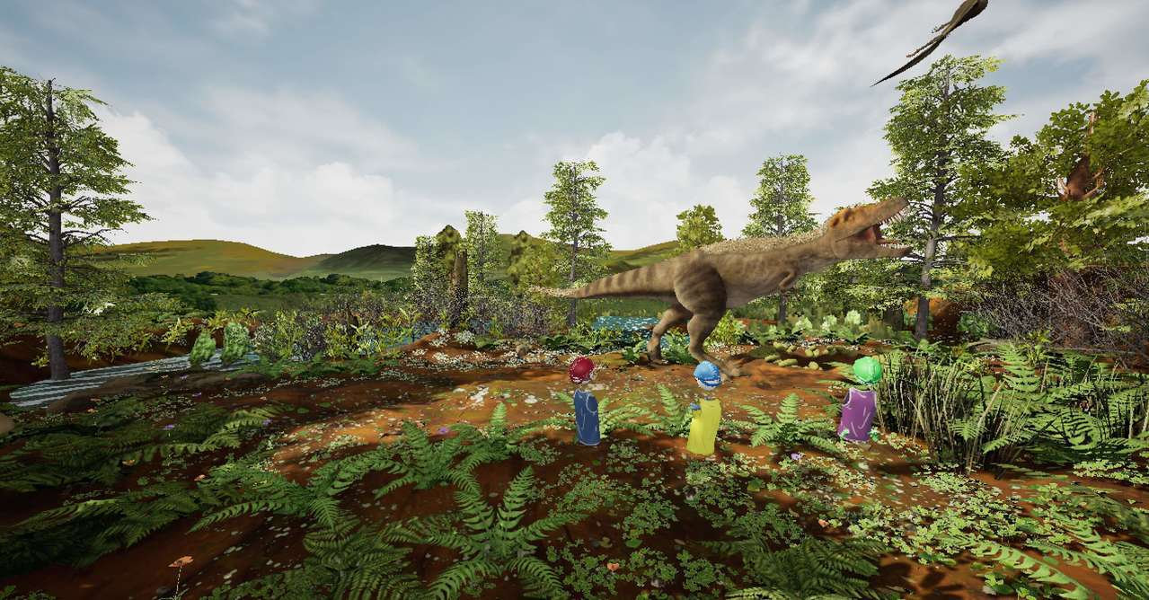 HTC VIVE攜手美國自然史博物館發表首款雷克斯暴龍VR 體驗。 圖/宏達電提...