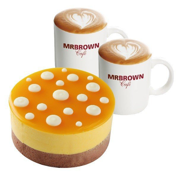 伯朗咖啡館限定優惠組,任選一個4吋蛋糕+2杯飲品現折100元。圖/伯朗咖啡提供