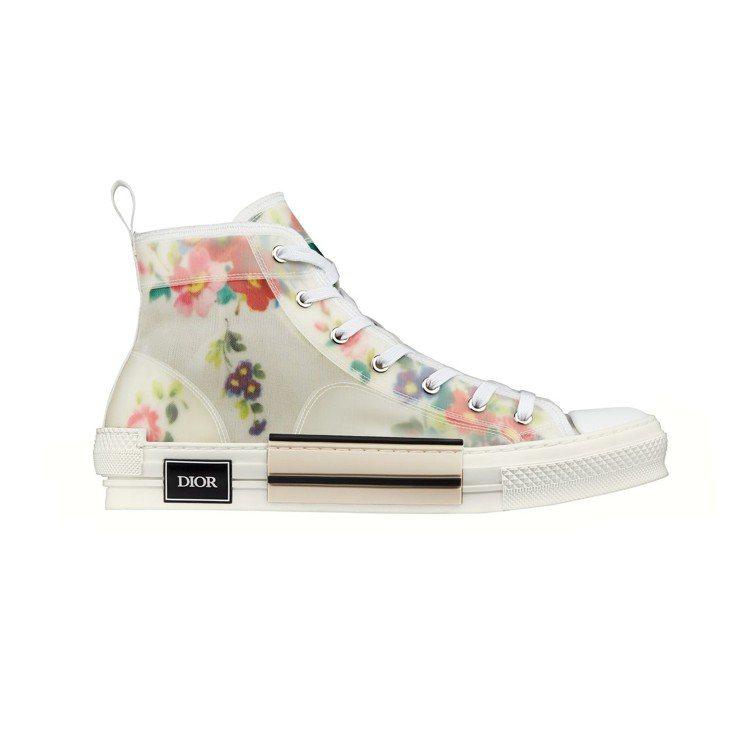 Dior Men彩色透明花卉印花高筒帆布鞋、35,000元。圖/Dior提供