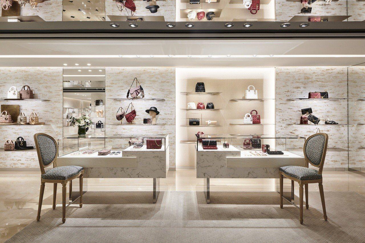 Dior漢神概念店呈現Dior巴黎的時尚美學。圖/Dior提供