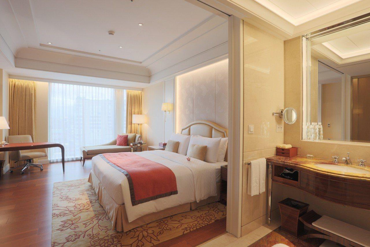 台北大倉久和大飯店的菁英客房。圖/台北大倉久和提供