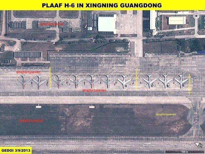 呂禮詩今以印度退役上校 Vinayak Bhat衛星照,指2013年就有10架轟...