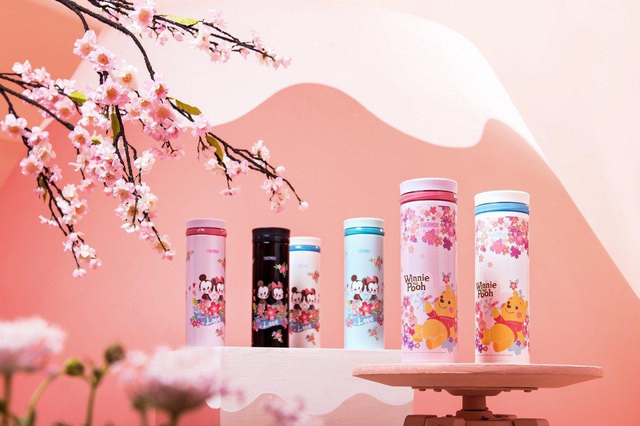 膳魔師與迪士尼聯名的櫻花季限定款304不銹鋼真空保溫杯(500ml)共6款,7-...