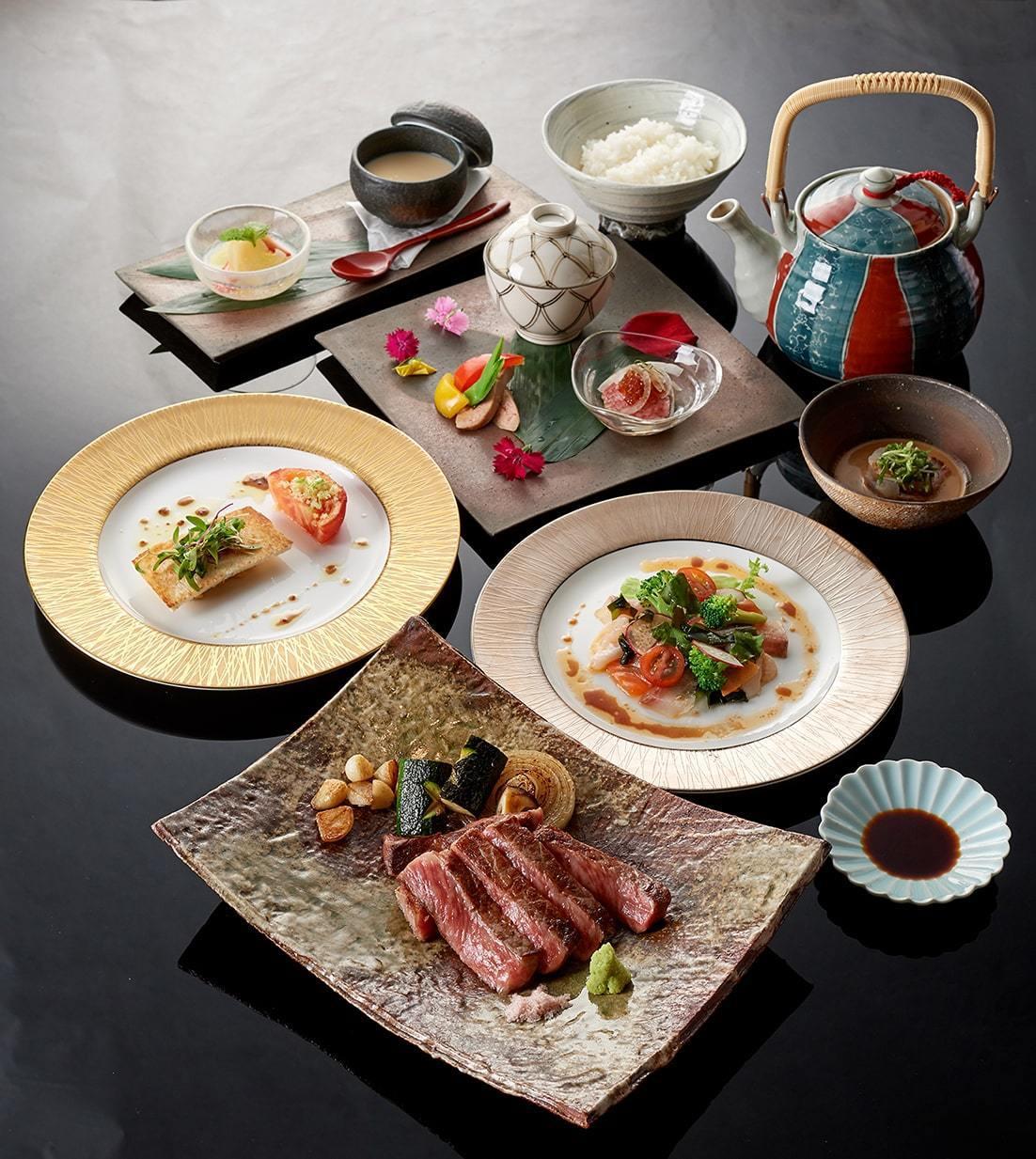 台北美福大飯店晴山日本料理鐵板燒套餐。圖/台北美福提供