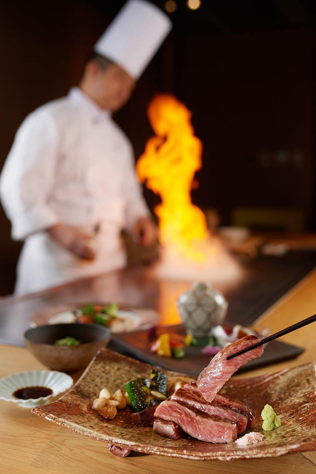 台北美福大飯店端出佐賀牛料理。圖/台北美福提供