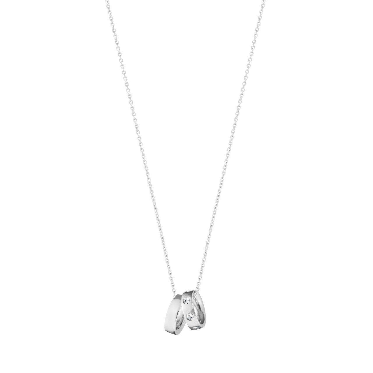 喬治傑生MAGIC系列18K白金鑽石鍊墜,39,500元。圖/喬治傑生提供