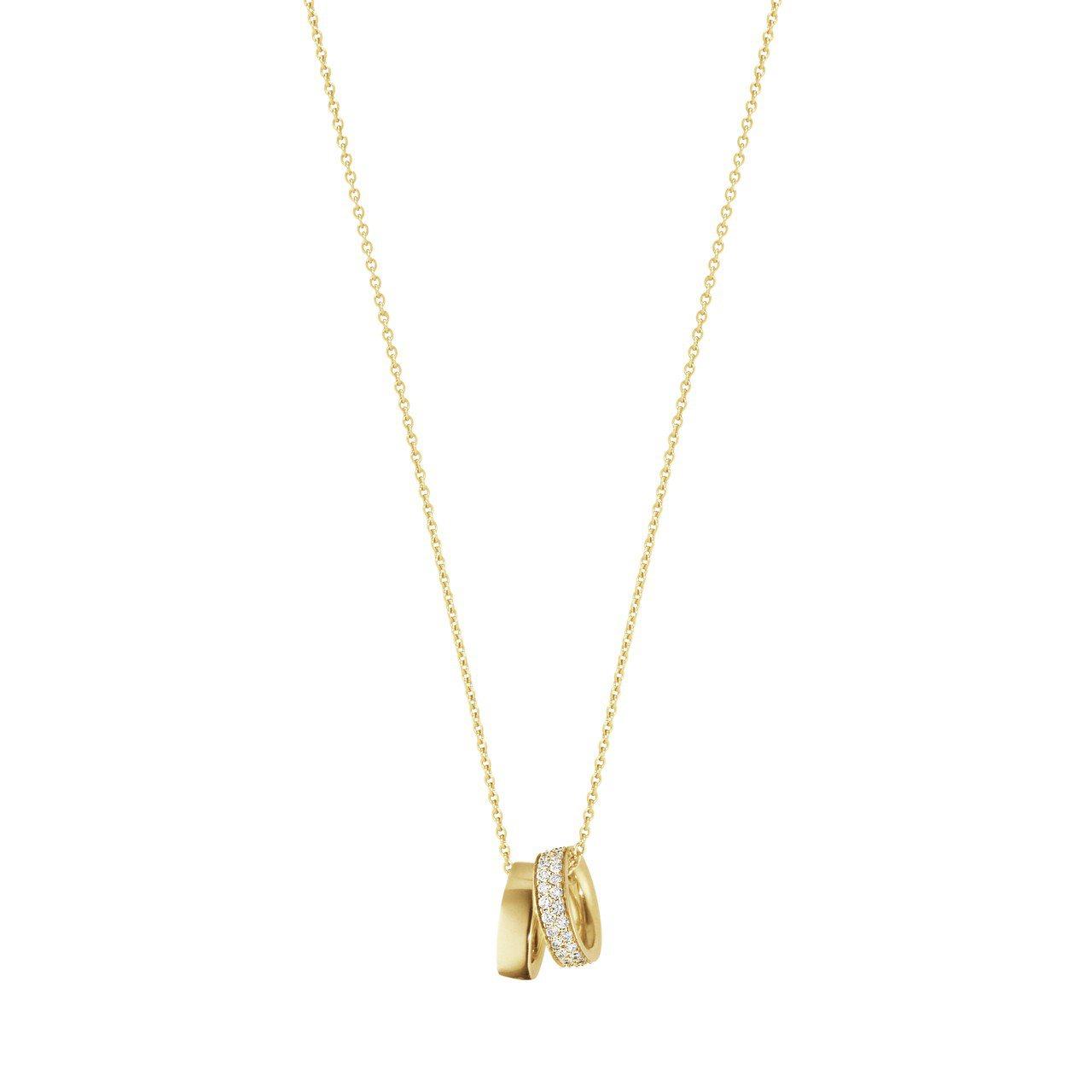 喬治傑生MAGIC系列18K黃金鑽石鍊墜,51,500元。圖/喬治傑生提供
