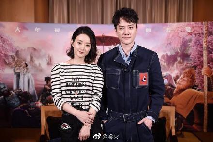 趙麗穎、馮紹峰因拍攝「知否知否應是綠肥紅瘦」假戲真做成夫妻。圖/摘自微博