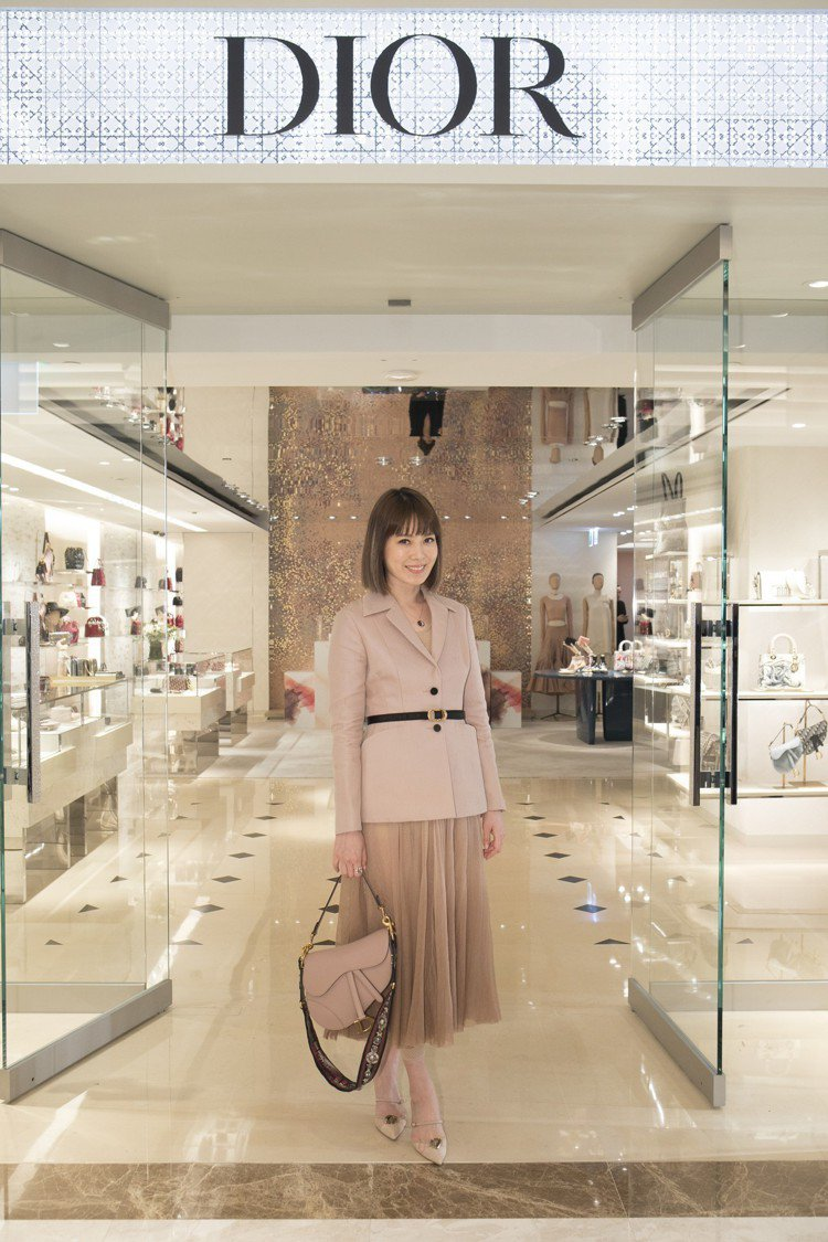 Melody出席高雄漢神DIOR全新概念店開幕活動。圖/Mark Li提供