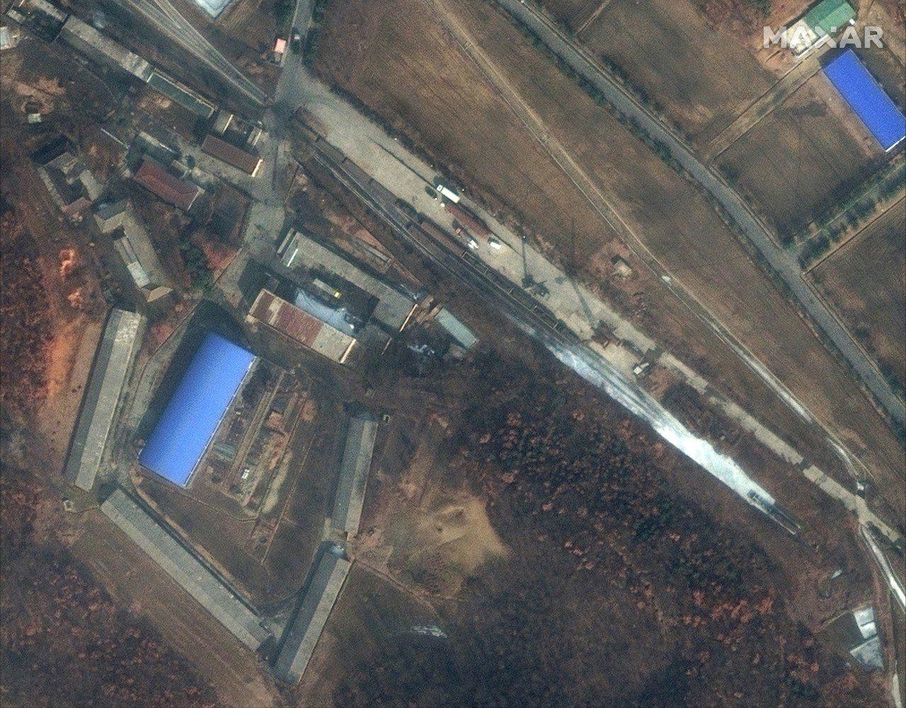 圖為北韓平壤郊區沙門洞(Sanumdong)飛彈研究設施。美聯社
